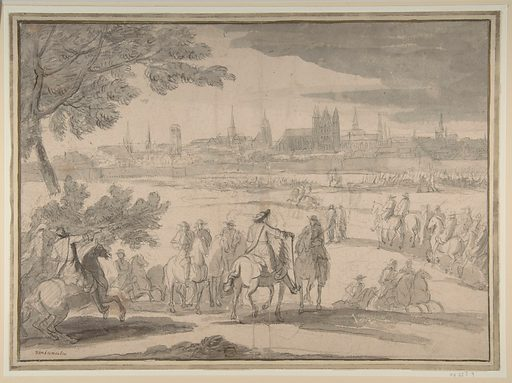 Louis XIV at the Siege of Tournai, Seen from the North-East (June 21-25, 1667) (n.d.). Accession number: 08.227.9.