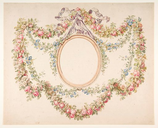 Floral Swags Framing an Empty Oval (n.d.). Accession number: 1970.736.41.