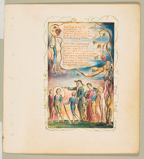 Songs of Innocence and of Experience: The Ecchoing Green (second plate) (ca. 1825). Accession number: 17.10.7.