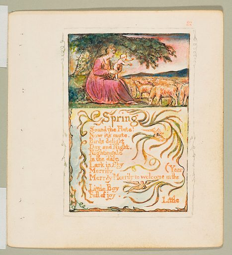 Songs of Innocence and of Experience: Spring (ca. 1825). Accession number: 17.10.22.