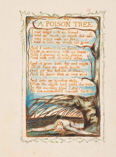 Songs of Innocence and of Experience: A Poison Tree (ca. 1825). Accession number: 17.10.49.