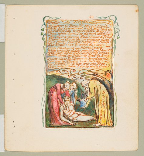 Songs of Innocence and of Experience: To Tirzah (ca. 1825). Accession number: 17.10.52.