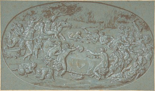 King Midas Feasting At The Arrival of Silenus (late 17th–early 18th century). Accession number: 1975.131.184.