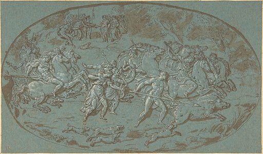 Hunt of the Calydonian Boar (late 17th–early 18th century). Accession number: 1975.131.189.