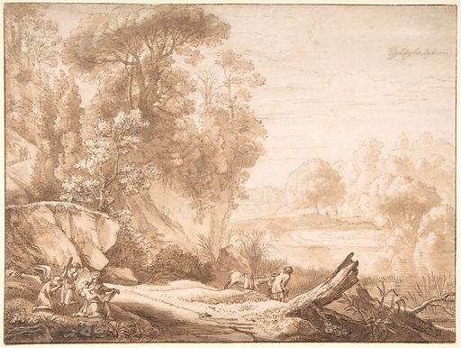 The Rest on the Flight into Egypt (mid-17th century). Accession number: 1975.131.165.