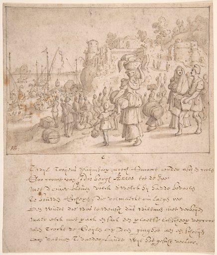 Leaving Troy (late 16th–mid 17th century). Accession number: 49.169.