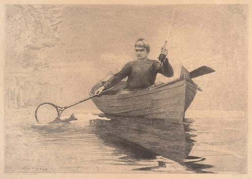 Fly Fishing, Saranac Lake (1889). Accession number: 24.39.2.