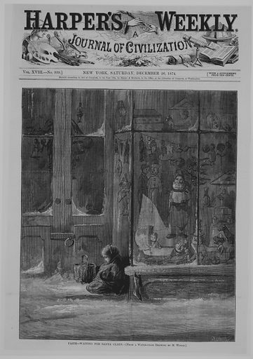 Open Your Mouth and Shut Your Eyes (Harper's Weekly) (May 16, 1874). Accession number: 28.111.6(14).