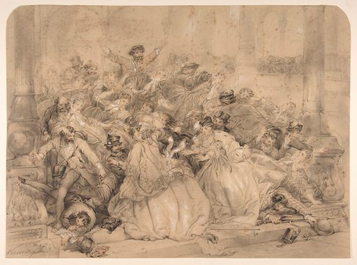 """""""At the Railroad Station"""" (1850–59). Accession number: 58.512.1."""