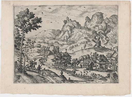 Mountain Landscape with Falconers (ca. 1560–70). Accession number: 1999.360.8.