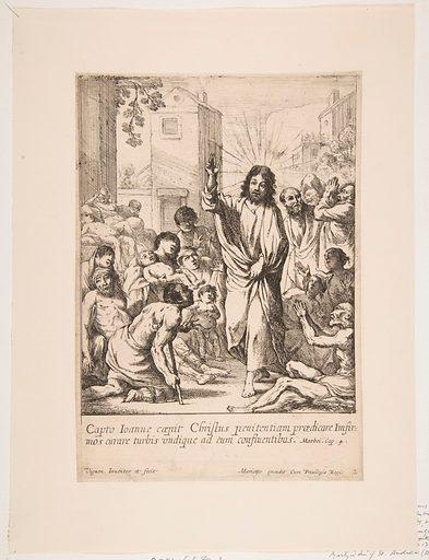 Healing the Infirm (Jésus-Christ guérit plusieurs malades en Galilée). Accession number: 2001.663.1.