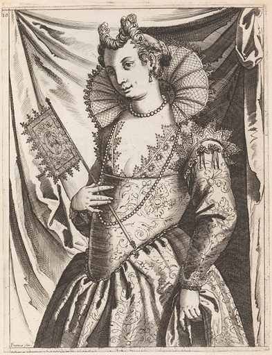 Habiti delle Donne Venetiane (Dress of Venetian Women) (ca. 1591–1610). Published in Venice, Italy. Accession number: 34.68.