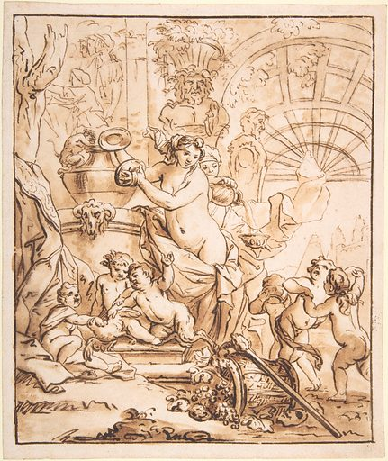 Bacchanalian Scene with Nymphs and Putti (n.d.). Accession number: 1975.23.