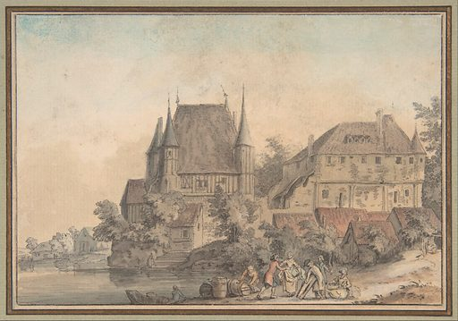 View of a Village alongside a River (1766). Accession number: 2001.751.2.