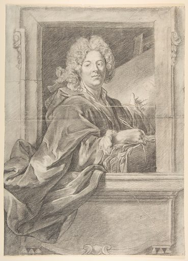 Preparation for Portrait Engraving of Artist in Frame (18th century). Accession number: 49.116.13.