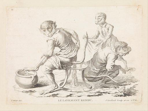 Singeries, ou Differentes Actions De La Vie Humaine ([before 1748]). Published in Paris, France. Accession number: 48.51.5.
