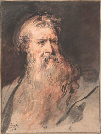Study for the figure of Moses (1730–37). Accession number: 2002.82.