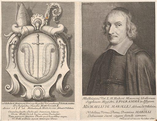 L'Abbé de Marolles (with coat of arms) (1657). Accession number: 2001.647.39.