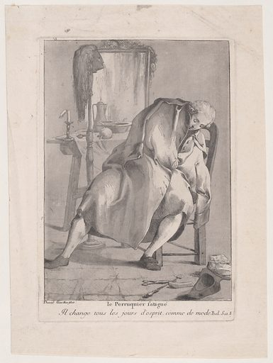 The Tired Wigmaker (1775). Accession number: 1971.564.22.