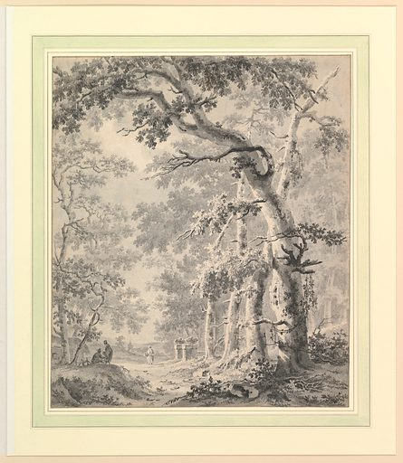 Wooded Landscape (18th century). Accession number: 2002.155.2.