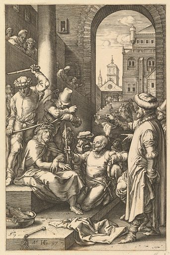 The Crowning with Thorns, from The Passion of Christ (1597). Accession number: 51.501.167(7).