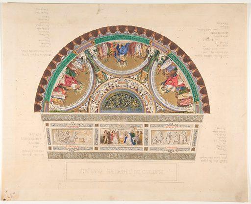 Design for a Ceiling at Théatre Français, Paris (1810–38). Accession number: 58.601.1.