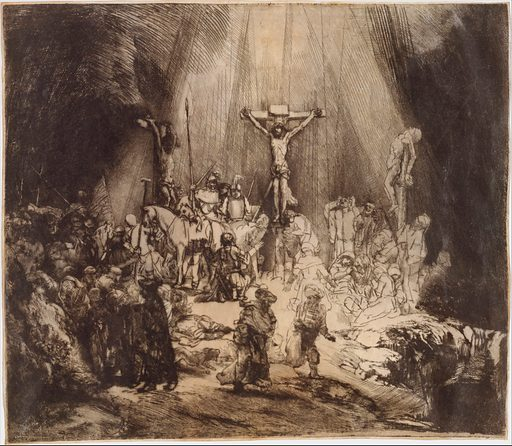 Christ Crucified between the Two Thieves: The Three Crosses (1653). Accession number: 41.1.31.