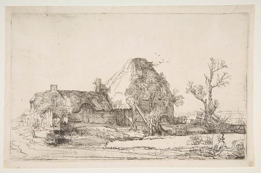 Cottages and Farm Buildings with a Man Sketching (ca. 1645). Accession number: 62.664.1.