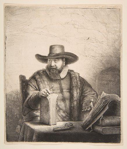 Cornelis Claesz Anslo, Mennonite Preacher (1641). Accession number: 41.1.51.