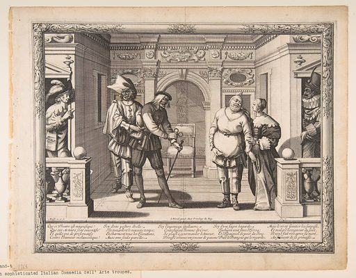 Actors at the Hotel de Bourgogne (ca. 1633–34). Accession number: 26.49.37.