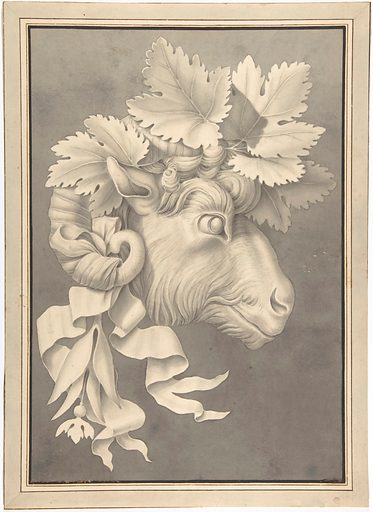 Decorative Ram's Head (first half 19th century). Accession number: 49.116.12.