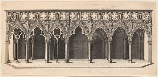 Interior of Strasbourg Cathedral Showing the Choir Screen (1617). Accession number: 51.501.6551(8).