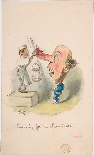 """""""Preparing for the Pantomime"""" (1836–64). Accession number: 17.97.16."""
