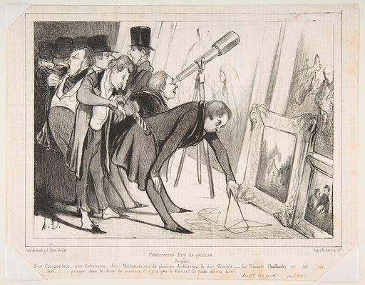 Celebrrrre Jury de Peinture..., published in Le Charivari, March 16, 1840 (March 16, 1840). Accession number: 1978.656.3.