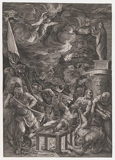 Martyrdom of St. Lawrence (1571). Accession number: 49.97.537.