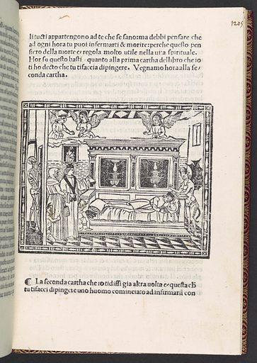 Predica del arte del bene morire (sermon on the art of dying well) (ca. 1502). Accession number: 25.30.95.