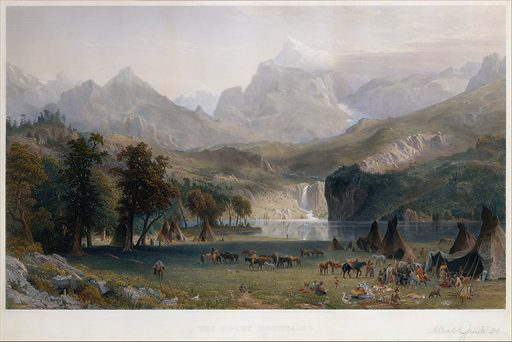 The Rocky Mountains, Lander's Peak (1866). Accession number: 1974.211.