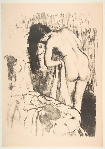 Nude Woman Standing, Drying Herself (1891–92). Accession number: 1972.626.