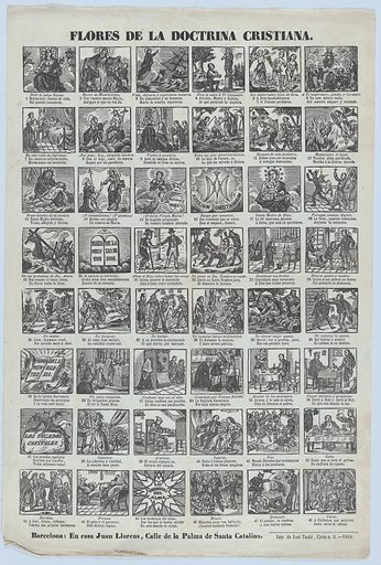 Broadside with 48 scenes illustrating Christian doctrine (1860). Accession number: 1978.643.19(3).