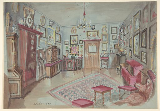 Drawing of an Interior: Atelier (1857). Accession number: 1972.642.7.