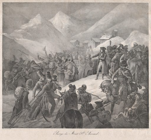 Passage through Mt. Saint-Bernard (1822). Accession number: 24.63.989.