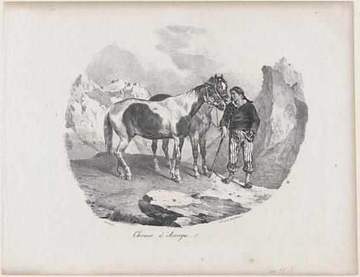 Horses of Auvergne (1822). Accession number: 58.580.8.