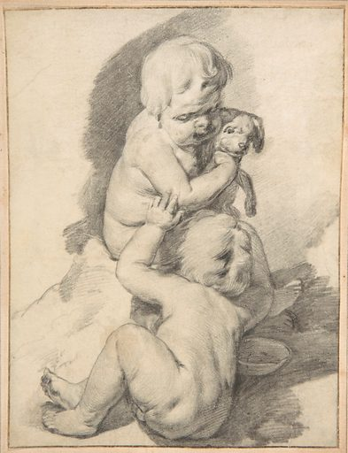 Two Boys with a Puppy (mid-17th century). Accession number: 2002.421.1.
