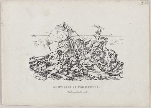 Shipwreck of the Meduse (1820). Accession number: 22.63.14.