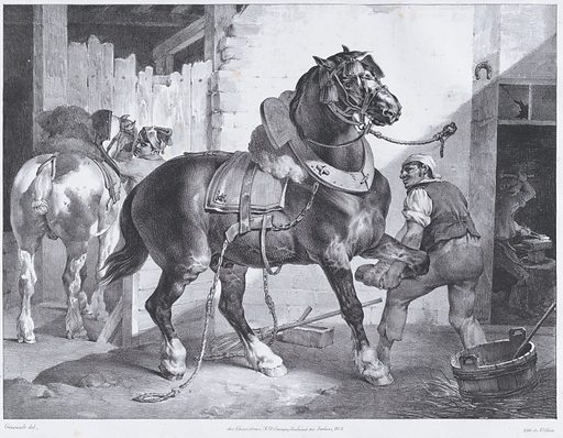 The French Blacksmith (1822). Accession number: 20.17.16.