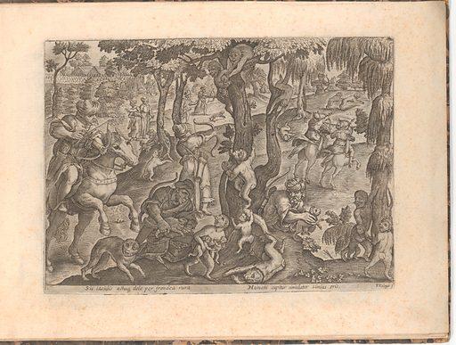 Eleven bound prints of hunts (n.d.). Accession number: 60.651.