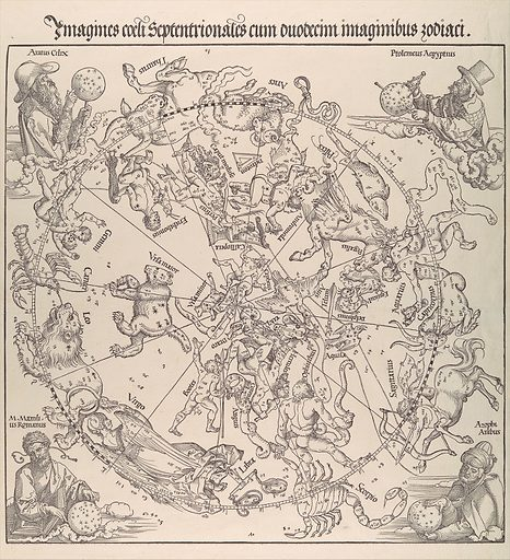 The Celestial Map- Northern Hemisphere (1515). Accession number: 51.537.1.