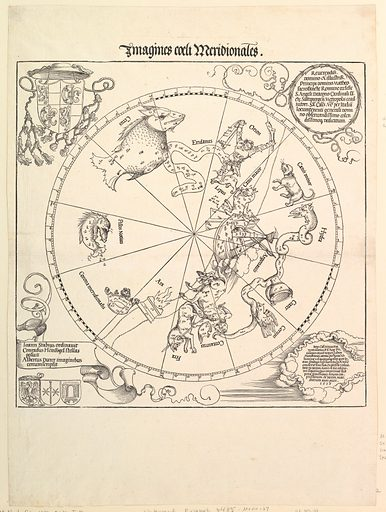 The Celestial Globe-Southern Hemisphere (1515). Accession number: 51.537.2.