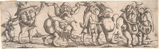 Procession of Monstrous Figures (1615). Accession number: 2002.412a–h.
