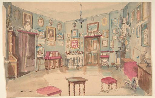 Drawing of an Interior: Atelier (1857). Accession number: 1972.642.3.